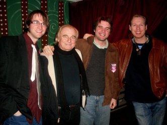 Arthur, Alan White, Thomas (blinking), and Oliver Wakeman