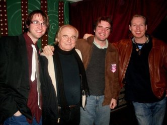 Arthur, Alan White, Thomas (blinking), and Oliver Wakeman