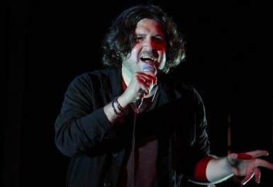 Lead singer of Aisles, Sebastian Vergara